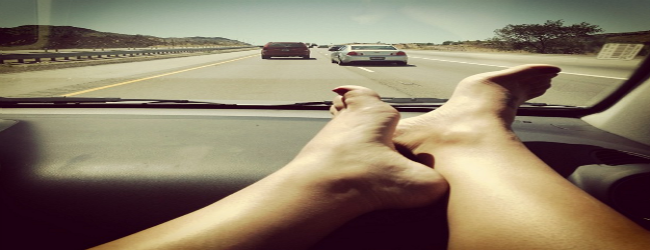 Avoid putting your feet on Dashboard