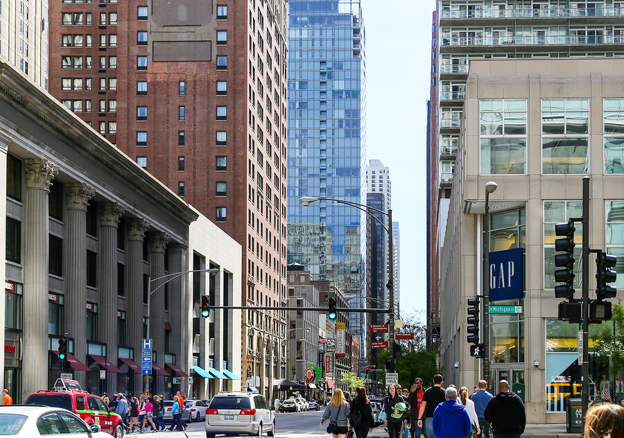 storefronts at magnificent mile