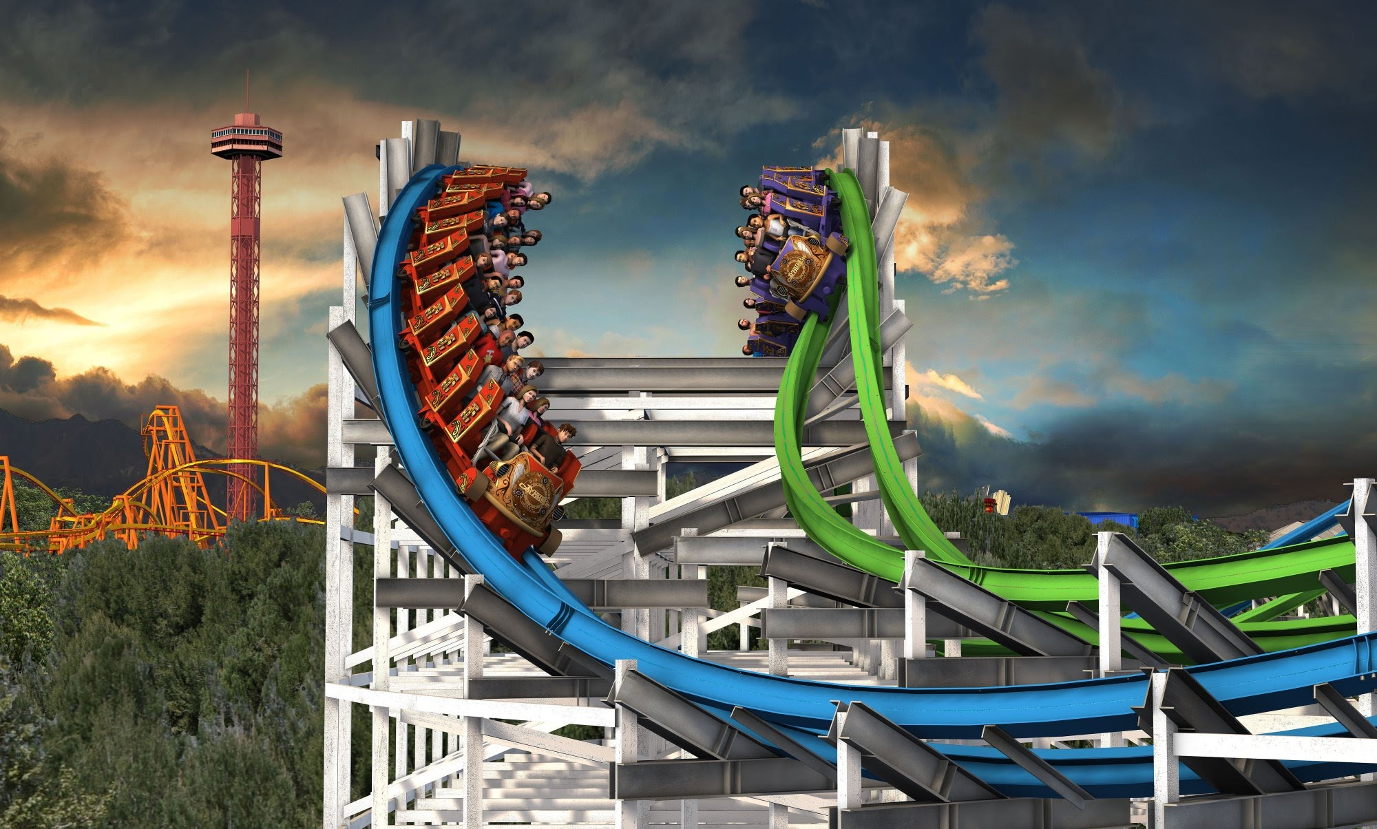 New Rides At The Six Flags Magic Mountain