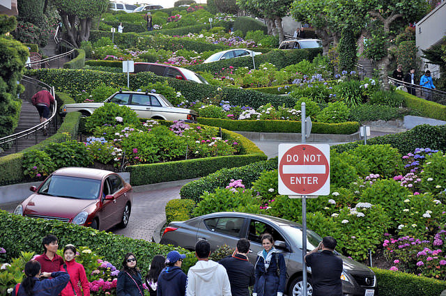 Drive Down That Windy Road Of The Lombard Street