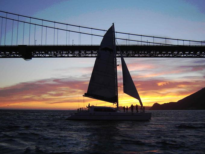 Sunset Cruise Along The Harbor Of SFO