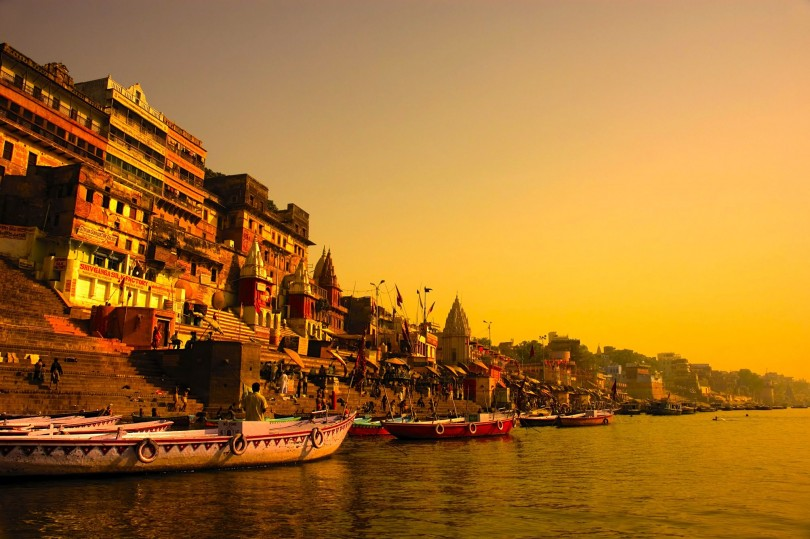 Ganaga ghats in Varanasi
